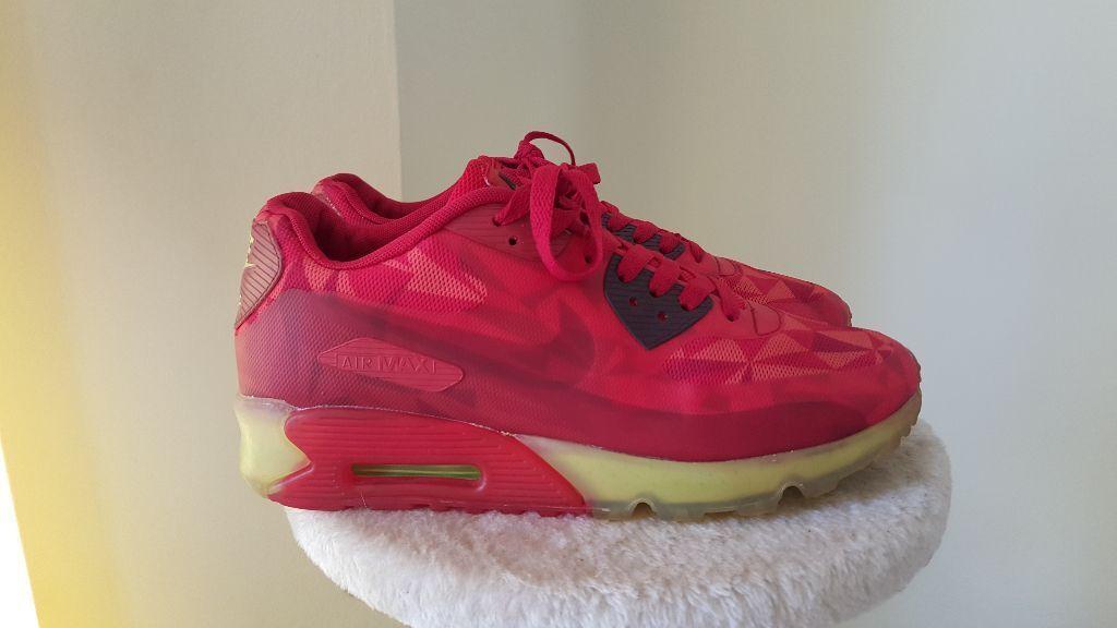 8fd4b69f6b46 Nike Air Max 90 Ice in Gym Red - RARE and gently USED