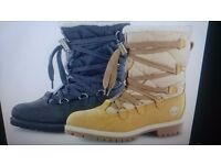 Men's winter Timberland Boots (wheat).