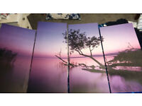 Wall Art - Large - Beautiful Picture - 4 Piece - £45 from Dunelm Mills - New, Never hung on wall