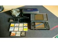 Nintendo DS Lite with games and accessories