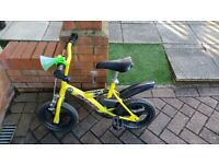 Childs green bike 12 1/2 inches non-inflatable tyres