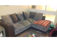 Corner Sofa Brown and Beige for Sale