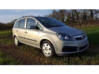 Vauxhall zafira 1.6i full service history 2 owners cheap 7 seater family