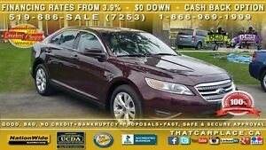 2011 Ford Taurus Sel-$61wk- leather- pedal shift- back up camera