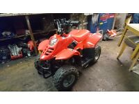 Wee red kids 50cc 50 quad bike off road