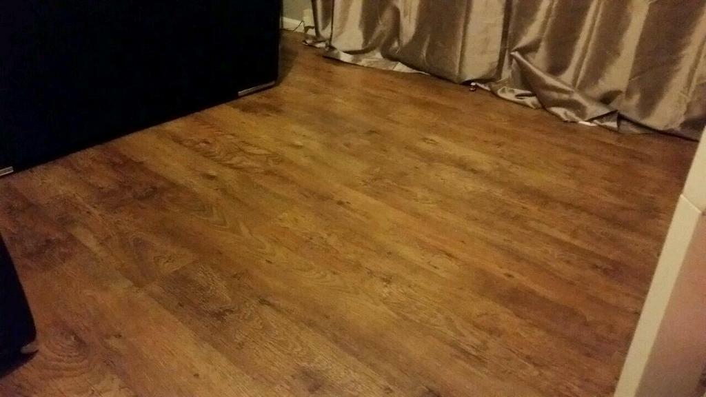 Used Wickes Rustic Oak Laminate Flooring And Underlay