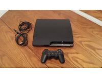 PS3 Slim- perfect working condition. 10+ games including GTA V, COD advanced warfare and many others