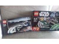 new in box 2 x Lego sets Lego Technic Record Breaker and Lego Star Wars Starfighter