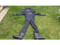 Otter diving dry system siute in used good condition size xl Can deliver or post!