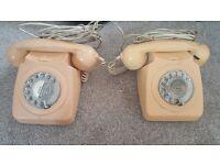 2 x retro telephones