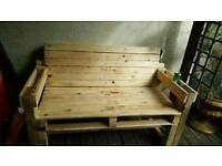 Bespoke handmade 2 seater bench