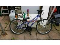 "Girls mountain bike 24"" wheels ages 8 to 15"