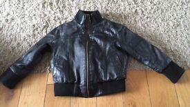 Boys real leather jacket