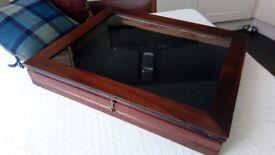 Vintage Mahogany Jewelry Display Cabinet