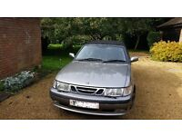 Saab 9-3 Convertible Grey with black roof (2001)