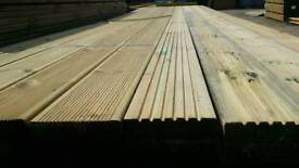 """Dual Sided Reversible Tanalised 5"""" Decking (28mm x 120mm)"""