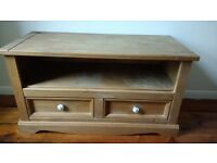 Corona Mexican Pine TV Console Unit- collection only
