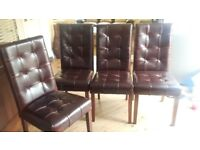 Dining chairs x 4 barker + stonehouse