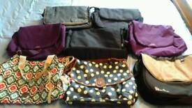 Selection of pram, pushchair baby changing bags