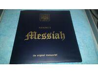 HANDEL'S MESSIAH - THE ORIGINAL MANUSCRIPT- 3 X VINYL L.P'S