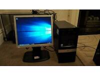 HP desktop pc with monitor