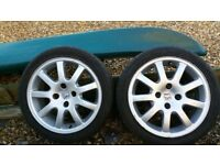 Peugeot Wheels And Tyres. Pair.