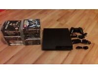 slim playstation 3 160gb + 30 games