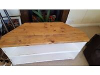 Corner Tv Stand cabinet shabby chic rustic hand painted solid wood pine plank