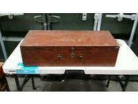 Antique carpenters tool box with full content (2)