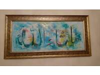 2 Islamic Hand Painted Canvases