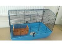Very large hamster cage with travel cage and swinging platform