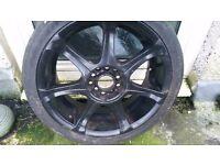 Set of alloy wheels