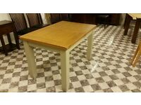 SOLID OAK PAINTED EXTENDABLE TABLE