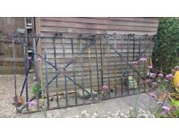 A pair of wrought iron gates for sale. £30.00.