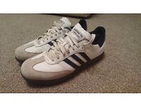 Adidas samba golf shoes, UK size 9.5, white/navy