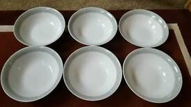 6 dinner set bowls