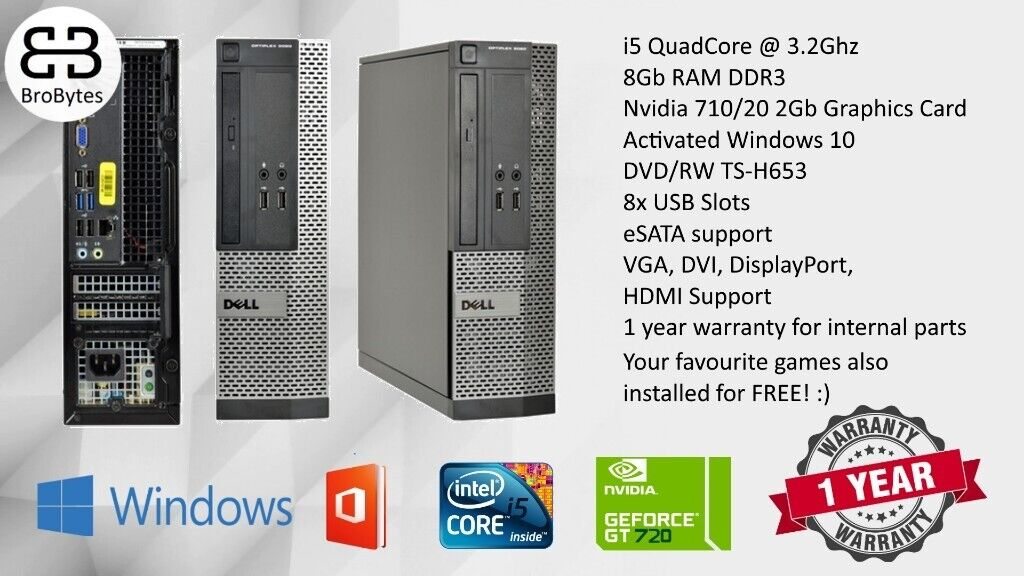 Cheapest Online! i5 3rd Gen 8GB RAM 2GB NVIDIA GT710 GRAPHICS 500GB HDD  ULTRA FAST GAMING PC | in Tower Hamlets, London | Gumtree