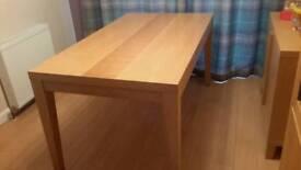 Light oak table
