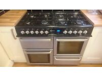 Flavel Aspen 100cm 8 Gas Burners Dual Fuel Electric Oven & Fan Oven and Grill Range Cooker