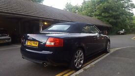 Audi A4 cabriolet convertible S Line 2.4 V6, 2002 Low milage