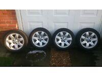 "4 x Genuine BMW 16"" alloys with Michelin Alpin Winter tyres"