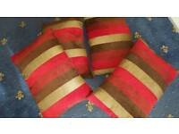 4 large scatter cushions