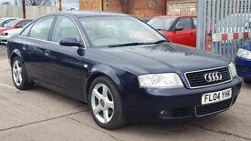 2004 Audi A6 1.9 TDI Leather Seats FSH + 12Month MOT + HPI Clear Blue Saloon