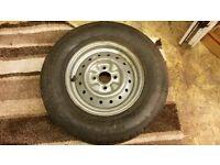 caravan wheel and brand new tyre 175 / 13