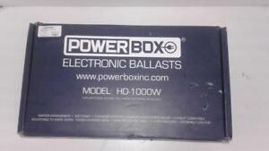 Powerbox 1000w Electronic Dimmable Ballast (1) (#45508) (NR1121481) We Sell Used Electronics!