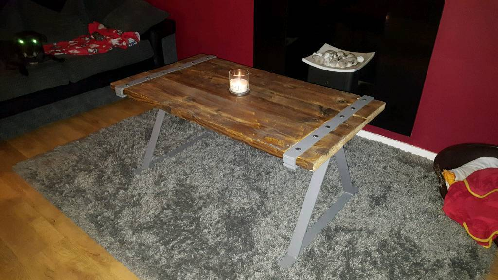 Bespoke hand made rustic farmhouse style coffee table