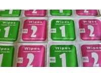 Camera Lens LCD Phone Screen Dust Removal Dry Wet Cleaning Wipes x20 *UK SELLER*