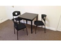 IKEA Table & 3 Chairs Set - Black