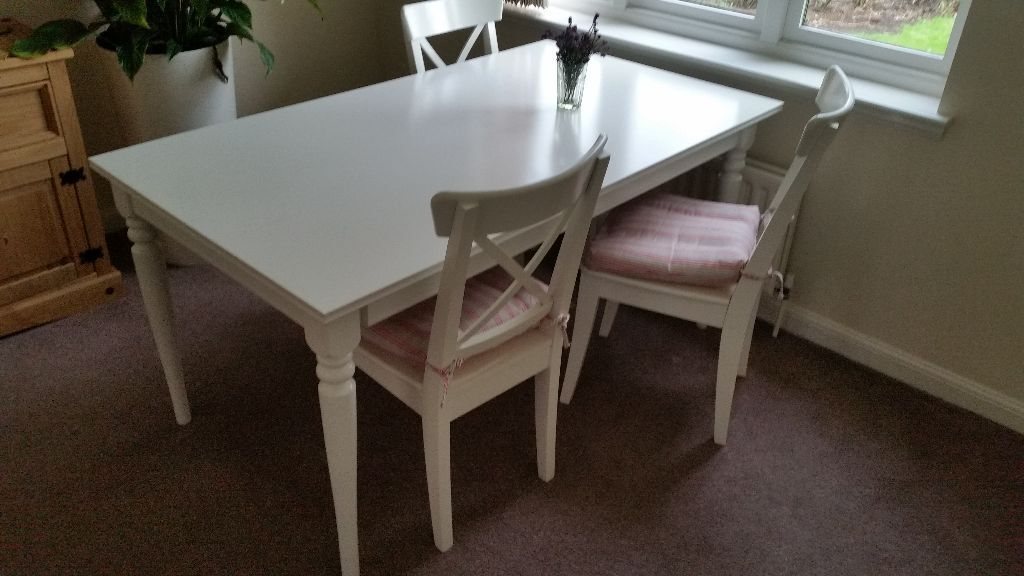 Ikea Aspelund Bedroom Furniture ~ IKEA INGATORP Extendable Table, white  really as new!! (new price was