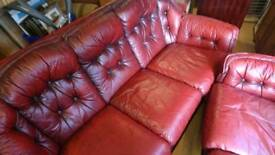 Chesterfield, three and two seater